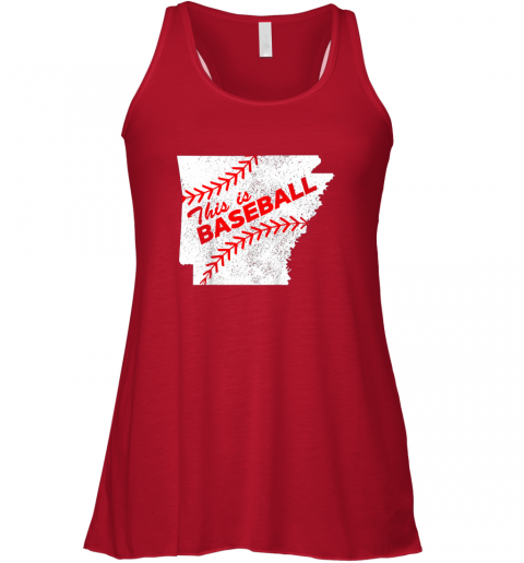 gghm this is baseball arkansas with red laces flowy tank 32 front red