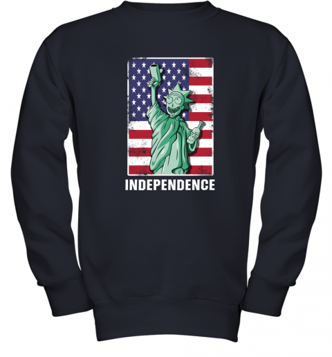2kuq rick and morty statue of liberty independence day 4th of july shirts youth sweatshirt 47 front navy