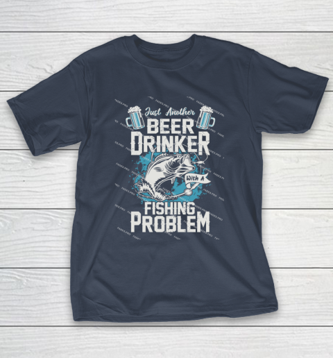 Beer Lover Funny Shirt Fishing ANd Beer T-Shirt 3