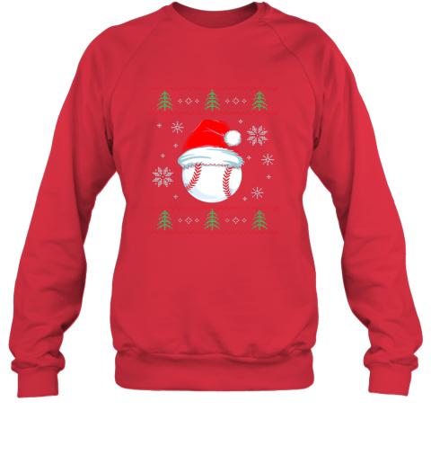 wxru ugly christmas baseball shirt boys kids ball santa pajama sweatshirt 35 front red