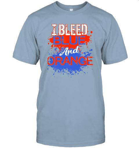 jyvh i bleed blue and orange fan shirt football soccer baseball jersey t shirt 60 front light blue