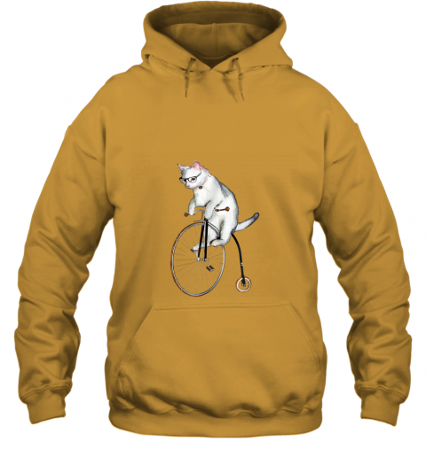 Atticus the Hipster Cat on a Bike t-shirt Penny Farthing! Hoodie