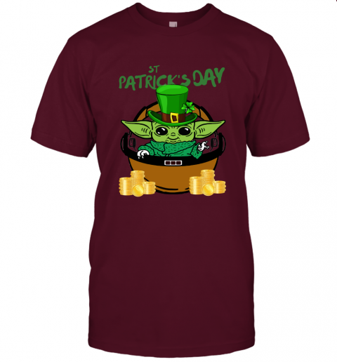 akfo baby yoda st patricks day outfit jersey t shirt 60 front maroon