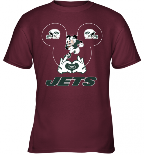 duq2 i love the jets mickey mouse new york jets youth t shirt 26 front maroon