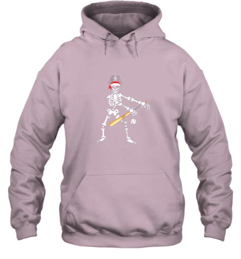 fzo6 skeleton pirate floss dance with baseball shirt halloween hoodie 23 front light pink