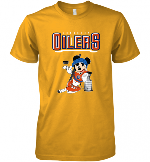 ozot mickey edmonton oilers with the stanley cup hockey nhl shirt premium guys tee 5 front gold