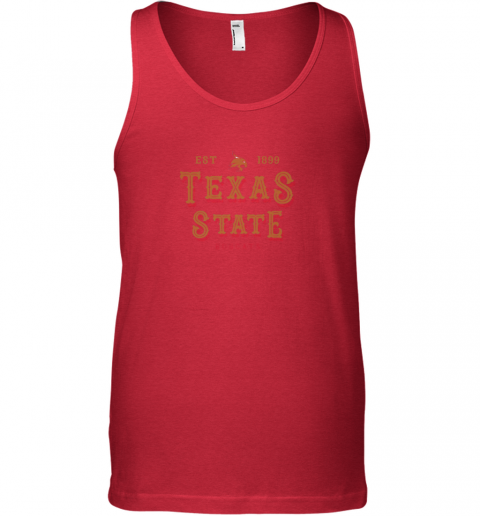 3jlu texas state bobcats womens college ncaa unisex tank 17 front red