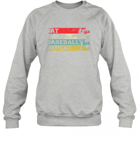 jp1l vintage retro eat sleep baseball repeat funny sport player sweatshirt 35 front sport grey