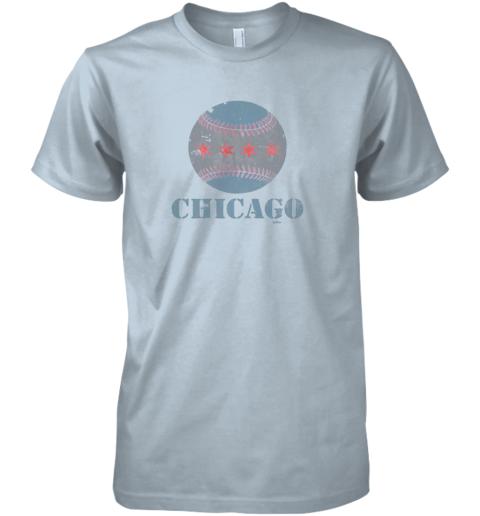 8ner vintage chicago baseball flag premium guys tee 5 front light blue