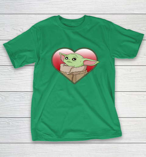 Star Wars The Mandalorian The Child Valentine Heart Portrait T-Shirt 5
