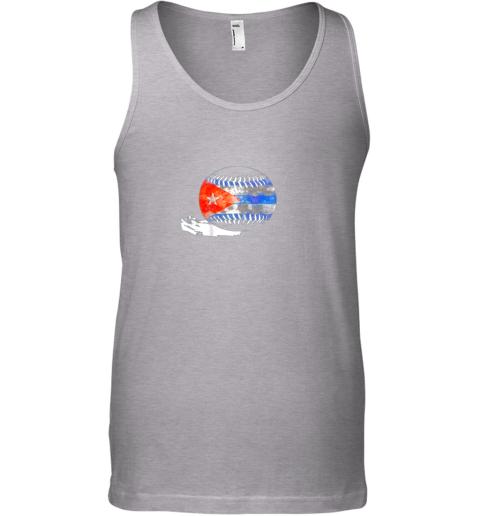 55mb vintage baseball cuba flag shirt cuban pride unisex tank 17 front sport grey