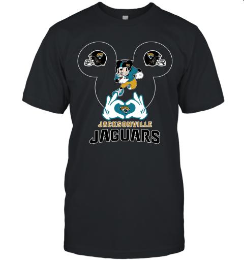 I Love The Jaguars Mickey Mouse Jacksonville Jaguars Unisex Jersey Tee