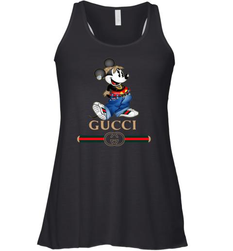 Gucci Mickey Mouse Cartoon Womens Racerback Tank Top