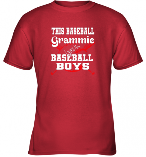 xvqk this baseball grammie loves her baseball boys youth t shirt 26 front red