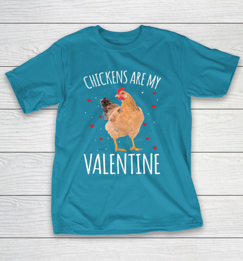 Funny Valentines Day Shirt Farmer Chickens Are My Valentine T-Shirt 7