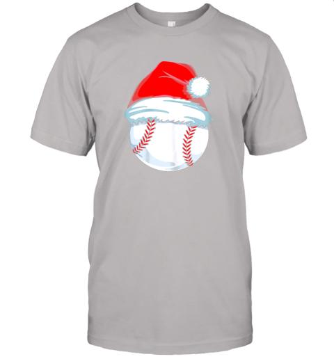 yu1m christmas baseball shirt for kids men ball santa pajama jersey t shirt 60 front ash
