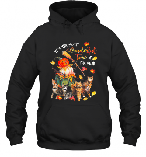 It's Just A Bunch Of Hocus Pocus Witch Cat Halloween Hoodie