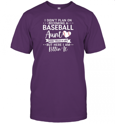 5dhq i didn39 t plan on becoming a baseball aunt gift jersey t shirt 60 front team purple