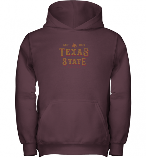 wl6c texas state bobcats womens college ncaa youth hoodie 43 front maroon
