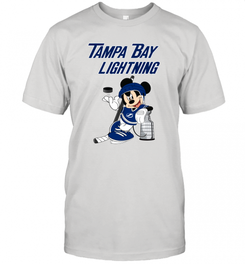 Mickey Tampa Bay Lightning With The Stanley Cup Hockey NHL Unisex Jersey Tee