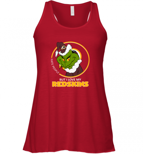 kwvq i hate people but i love my washington redskins grinch nfl flowy tank 32 front red