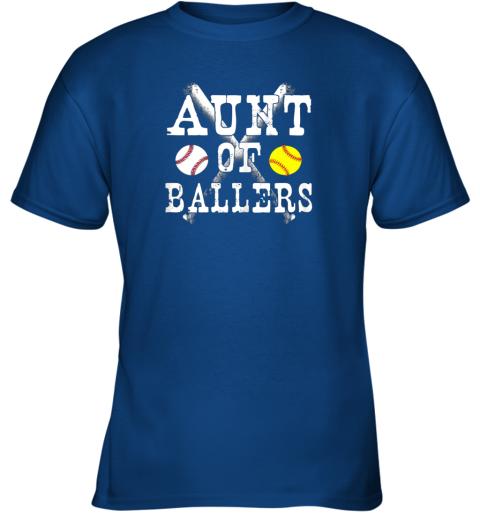 bp54 vintage aunt of ballers shirt funny baseball softball love youth t shirt 26 front royal