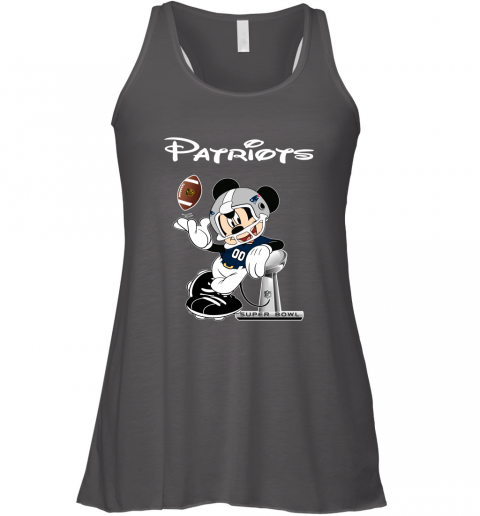 z73x mickey patriots taking the super bowl trophy football flowy tank 32 front dark grey heather
