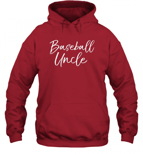 w8r2 baseball uncle shirt for men cool baseball uncle hoodie 23 front red