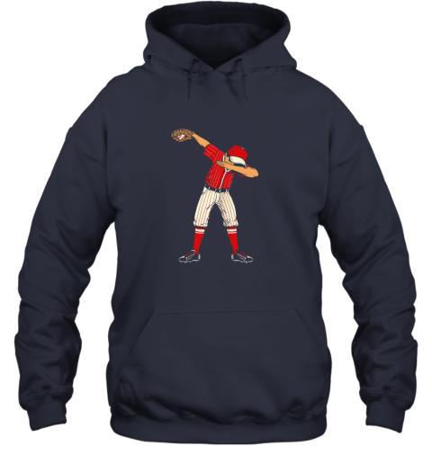 ykjq dabbing baseball catcher gift shirt men boys kids bzr hoodie 23 front navy
