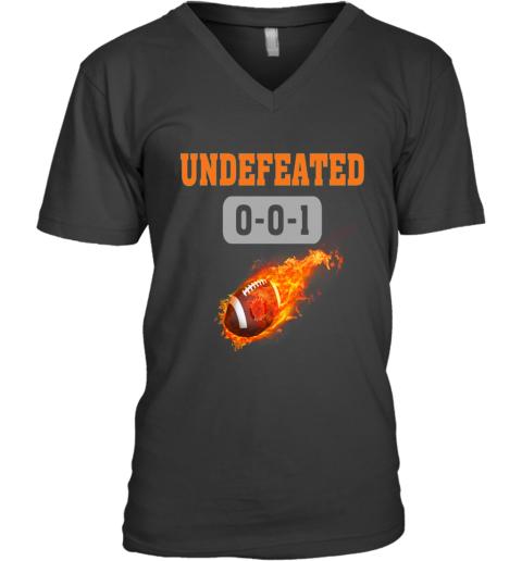 NFL CLEVELAND BROWNS LOGO Undefeated V-Neck T-Shirt