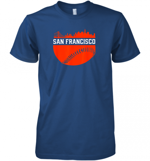 y3nv san francisco baseball vintage sf the city skyline gift premium guys tee 5 front royal