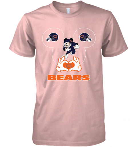 vpl0 i love the bears mickey mouse chicago bears premium guys tee 5 front light pink