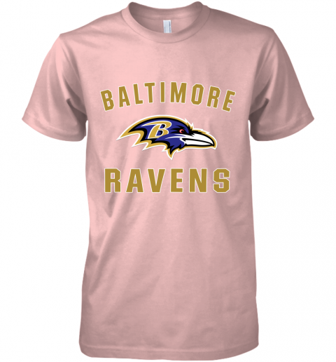 bns3 mens baltimore ravens nfl pro line by fanatics branded gray victory arch t shirt premium guys tee 5 front light pink