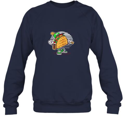 leoz taco baseball shirt baseball playing taco sweatshirt 35 front navy