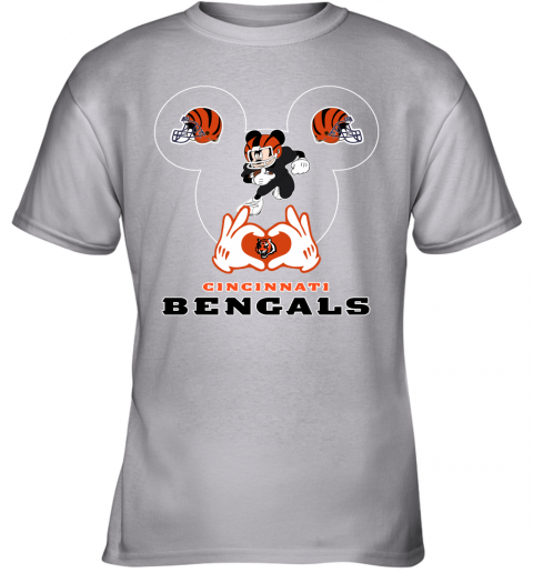 huqs i love the bengals mickey mouse cincinnati bengals youth t shirt 26 front sport grey