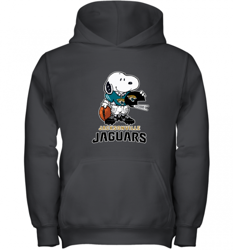 Snoopy A Strong And Proud Jacksonville Jaguars NFL Youth Hoodie