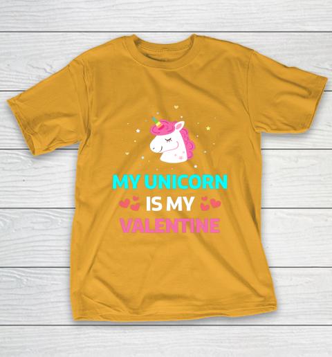 Funny Valentines Day Shirt Unicorn Is My Valentine T-Shirt 2