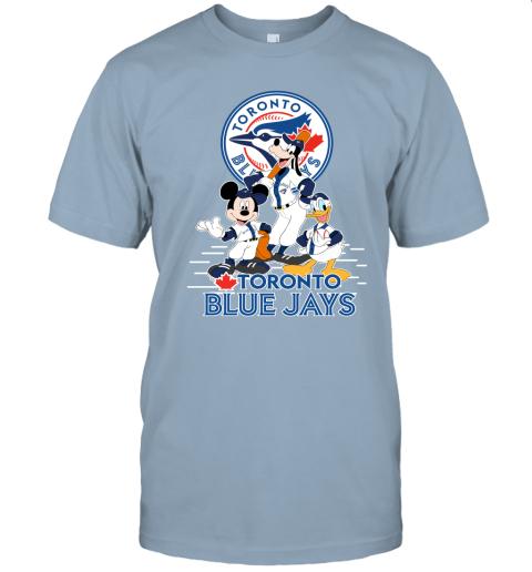 k5yu toronto blue jays mickey donald and goofy baseball jersey t shirt 60 front light blue