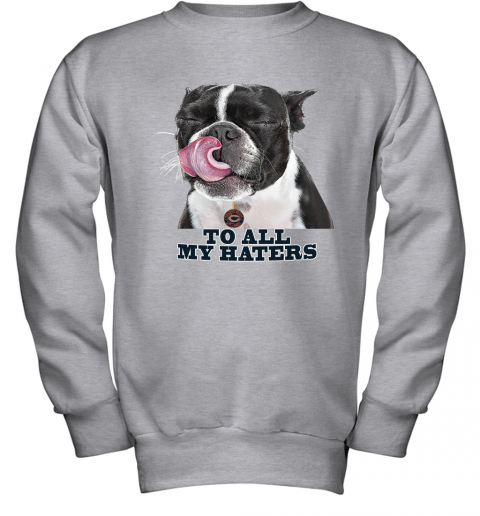Chicago Bears To All My Haters Dog Licking Youth Sweatshirt