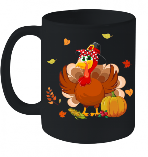 Mom Turkey Thanksgiving Gift Ceramic Mug 11oz