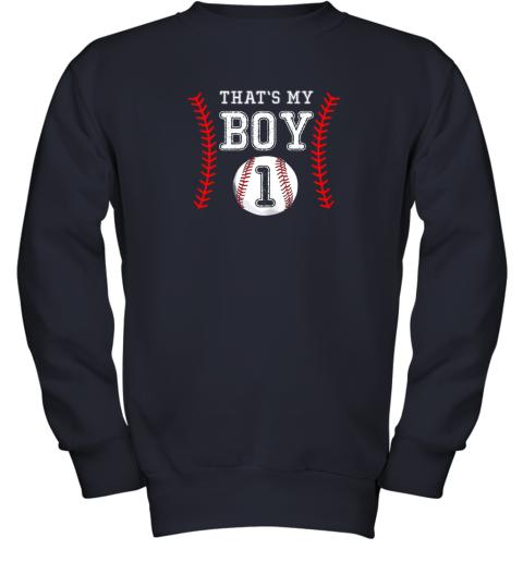 a3xr that39 s my boy baseball 1 year old dad mom youth sweatshirt 47 front navy