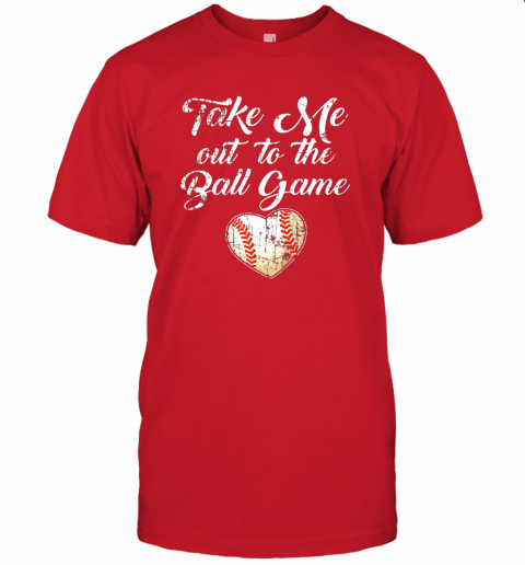 jlux take me out to the ball game shirt baseball mom sister gift jersey t shirt 60 front red