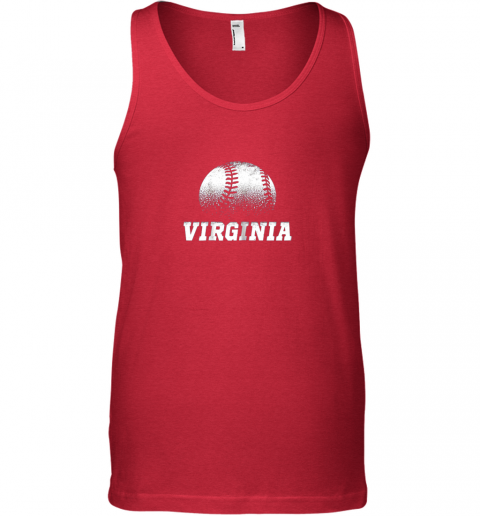 tzik virginia baseball state pride team sport unisex tank 17 front red
