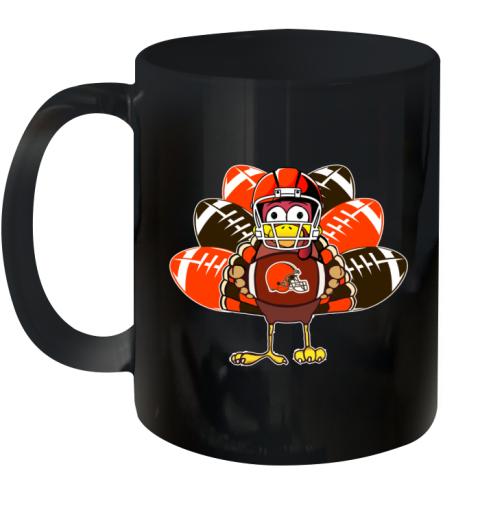 Cleveland Browns  Thanksgiving Turkey Football NFL Ceramic Mug 11oz