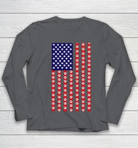 Basketball Dog Lover American Flag Youth Long Sleeve 6