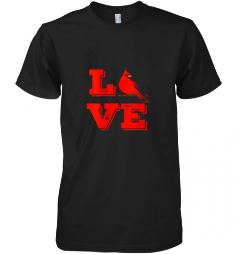 Classic Love St. Louis Missouri Baseball Fan Retro Premium Men's T-Shirt