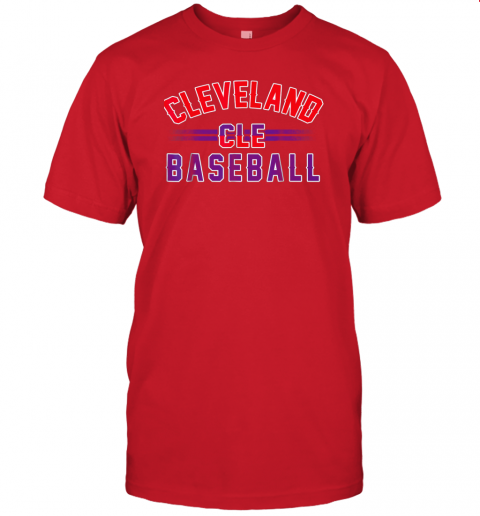 wvmo cleveland cle baseball jersey t shirt 60 front red