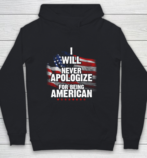 Veteran Shirt Patriot Never Apologize Youth Hoodie