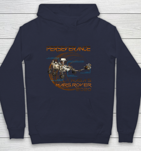 Schematic Perseverance The New NASA Mars Rover 2020 Hoodie 10