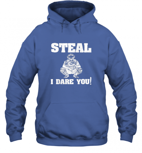 txuw kids baseball catcher gift funny youth shirt steal i dare you33 hoodie 23 front royal